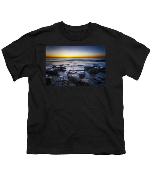 Sunrise At Cave Point Youth T-Shirt by Scott Norris