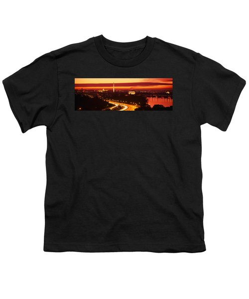 Sunset, Aerial, Washington Dc, District Youth T-Shirt by Panoramic Images