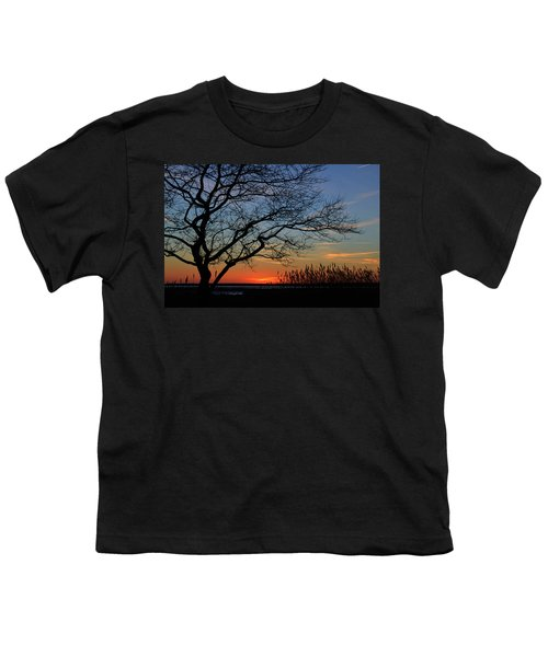 Sunset Tree In Ocean City Md Youth T-Shirt
