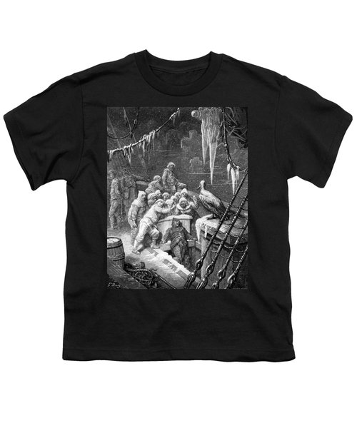 The Albatross Being Fed By The Sailors On The The Ship Marooned In The Frozen Seas Of Antartica Youth T-Shirt