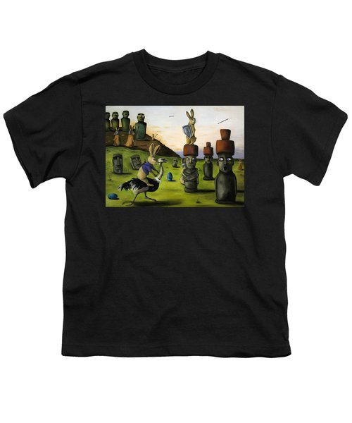 The Battle Over Easter Island Youth T-Shirt by Leah Saulnier The Painting Maniac