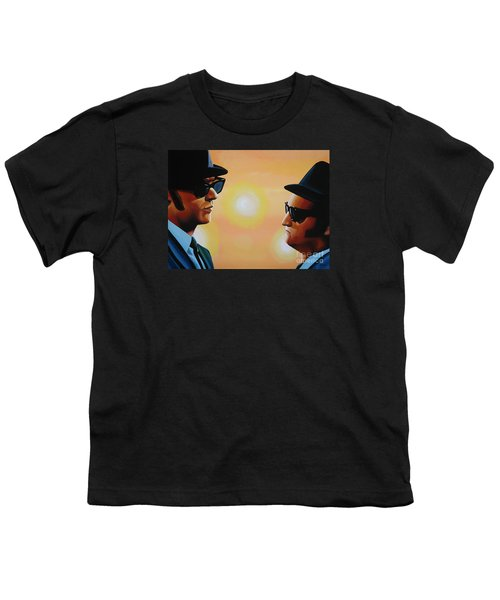 The Blues Brothers Youth T-Shirt by Paul Meijering