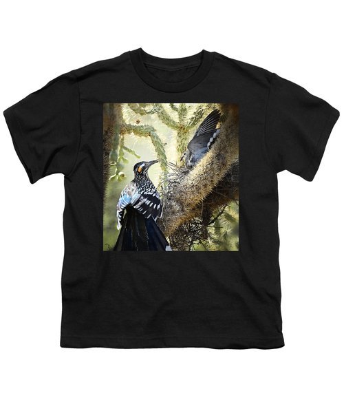 The Dove Vs. The Roadrunner Youth T-Shirt by Saija  Lehtonen