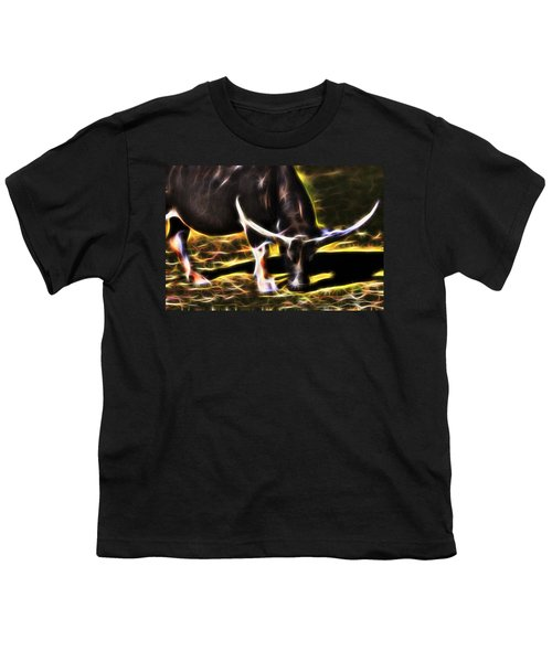 The Sparks Of Water Buffalo Youth T-Shirt by Miroslava Jurcik