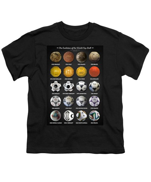 The World Cup Balls Youth T-Shirt by Taylan Apukovska