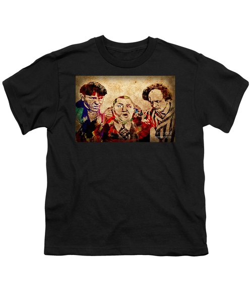Youth T-Shirt featuring the photograph Three Stooges Graffiti by Gary Keesler