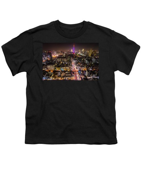 Tokyo Tower - Tokyo - Japan Youth T-Shirt by Luciano Mortula