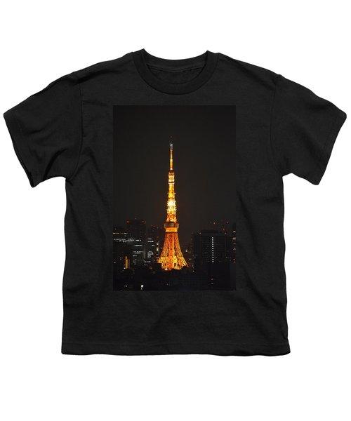 Tokyo Tower And Skyline At Night From Shinagawa Youth T-Shirt by Jeff at JSJ Photography