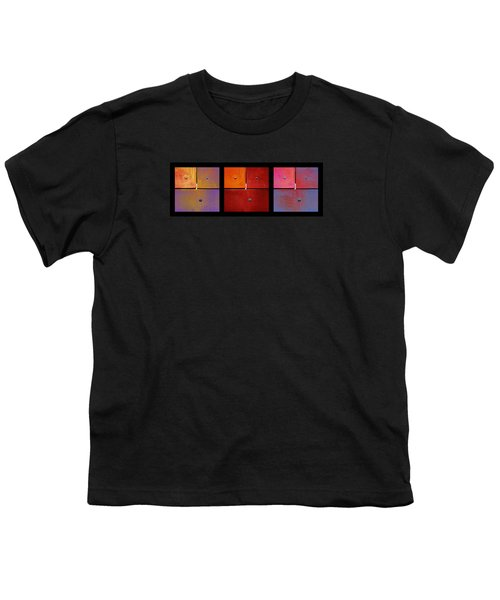 Triptych Purple Red Magenta - Colorful Rust Youth T-Shirt