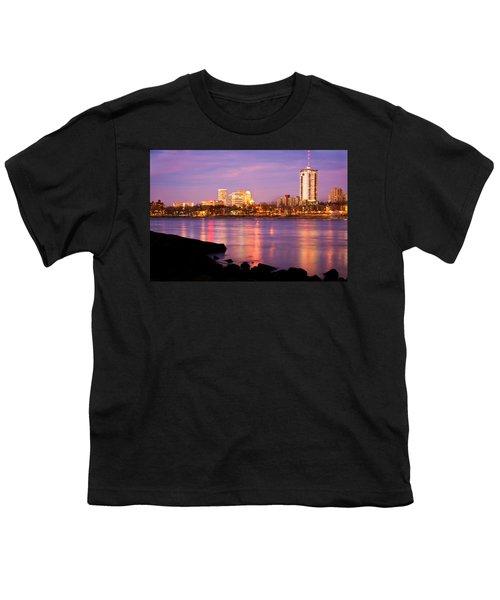 Tulsa Oklahoma - University Tower View Youth T-Shirt by Gregory Ballos