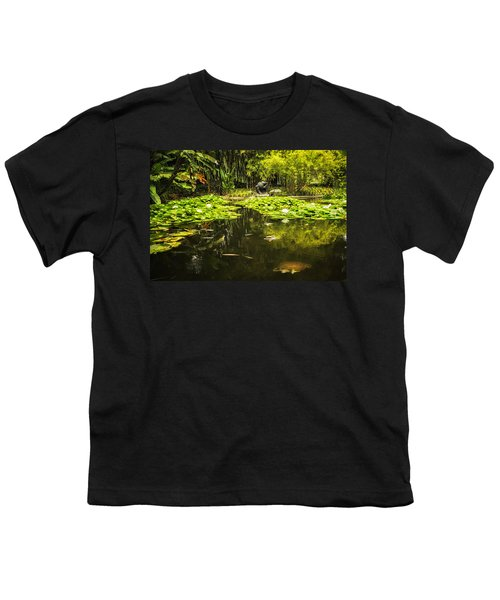Turtle In A Lily Pond Youth T-Shirt