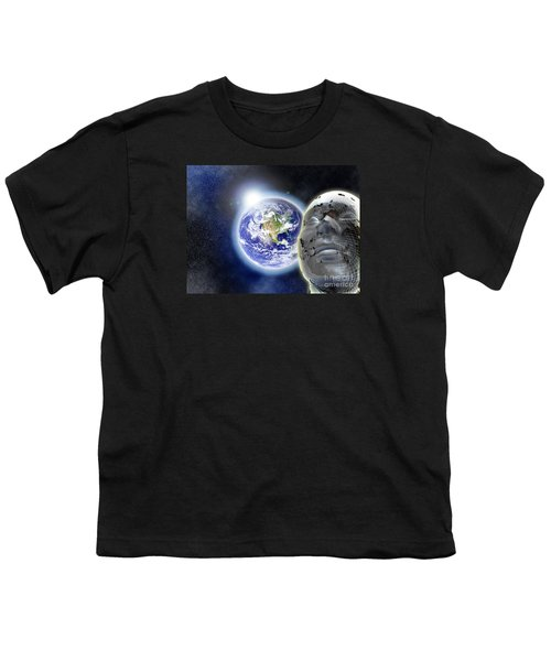 Alone In The Universe Youth T-Shirt by Stefano Senise