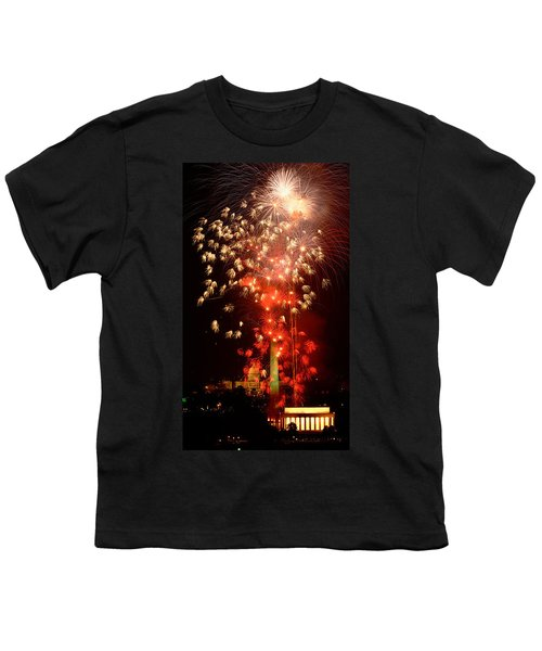 Usa, Washington Dc, Fireworks Youth T-Shirt