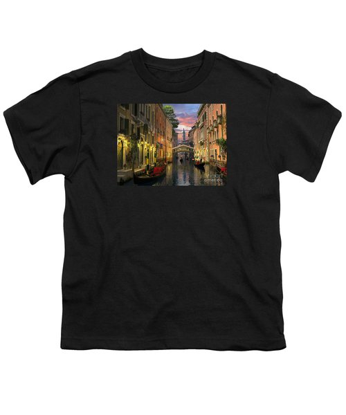 Venice At Dusk Youth T-Shirt by Dominic Davison