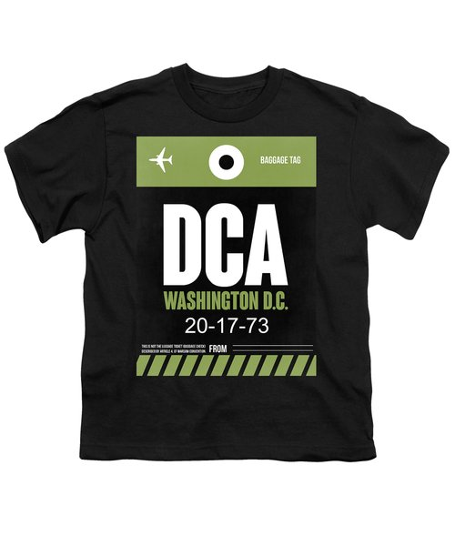 Washington D.c. Airport Poster 2 Youth T-Shirt by Naxart Studio