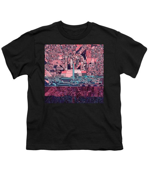 Washington Dc Skyline Abstract 2 Youth T-Shirt