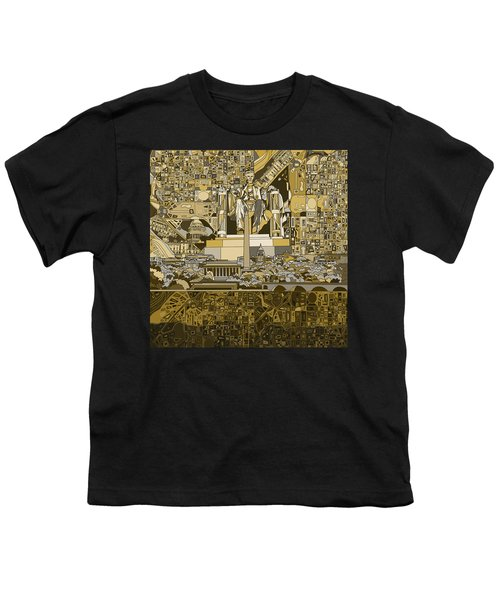 Washington Dc Skyline Abstract 4 Youth T-Shirt