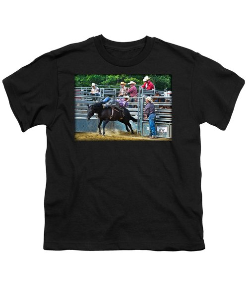 Youth T-Shirt featuring the photograph Western Cowboy by Gary Keesler
