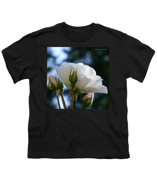 White Rose And Rosebuds In Anna's Gardens Youth T-Shirt