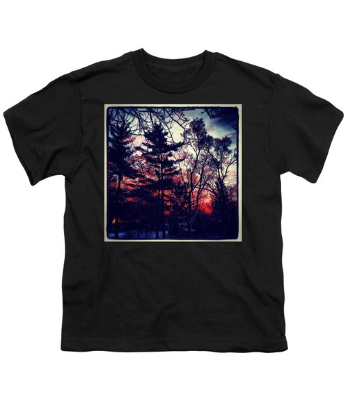 Winter Red Youth T-Shirt by Frank J Casella