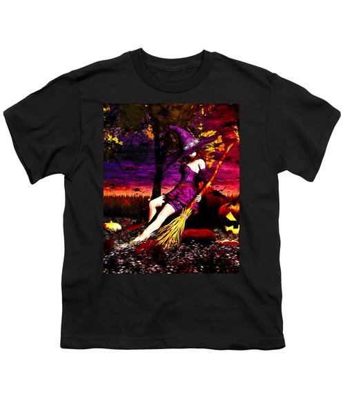 Witch In The Pumpkin Patch Youth T-Shirt