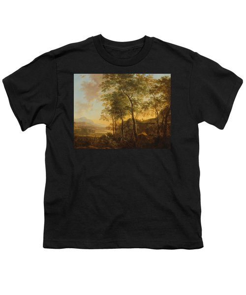 Wooded Hillside With A Vista Youth T-Shirt by Jan Both