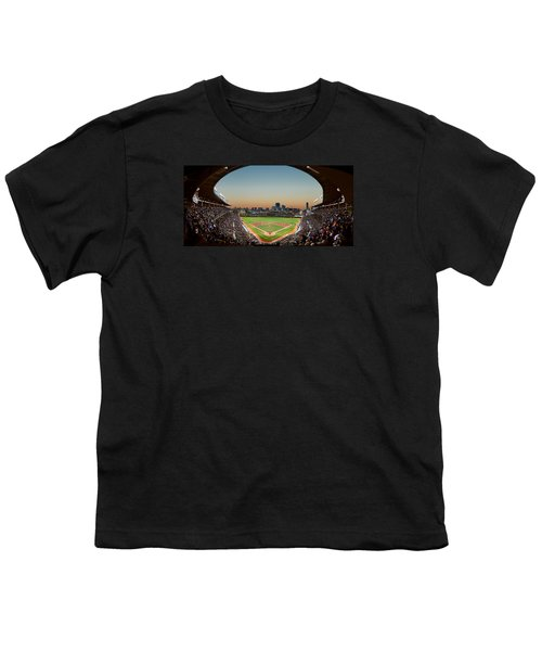 Wrigley Field Night Game Chicago Youth T-Shirt