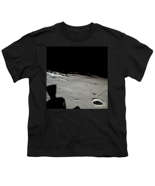 Apollo 11 Approaching Landing Site Youth T-Shirt by Nasa