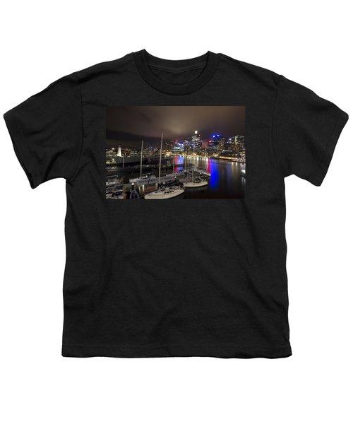 Darling Harbor Sydney Skyline 2 Youth T-Shirt by Douglas Barnard