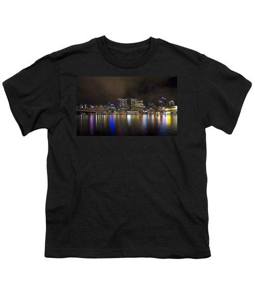 Darling Harbor Sydney Skyline Youth T-Shirt by Douglas Barnard