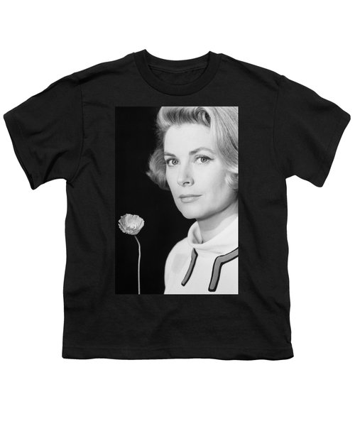 Grace Kelly (1928-1982) Youth T-Shirt by Granger