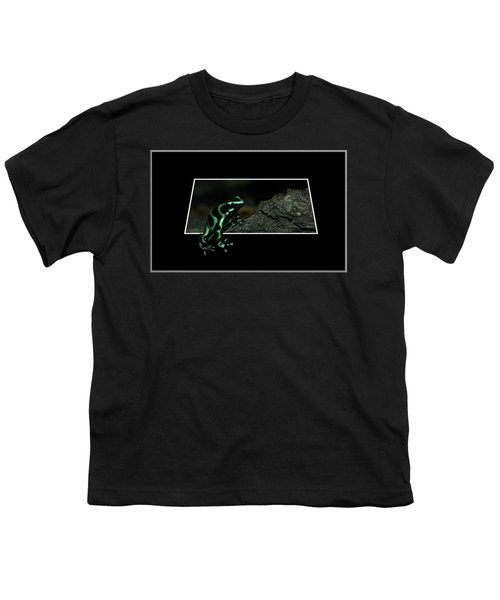 Poisonous Green Frog 02 Youth T-Shirt by Thomas Woolworth