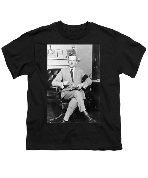 President Calvin Coolidge Youth T-Shirt by International  Images