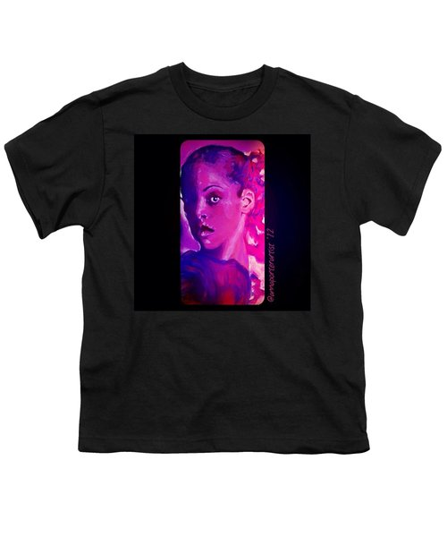 Purple Dancer 2012 Digital Painting By Annaporterartist Youth T-Shirt