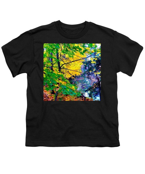 Reed College Canyon Fall Leaves II Youth T-Shirt