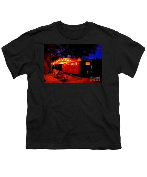 Vintage Vagabond Trailer Youth T-Shirt