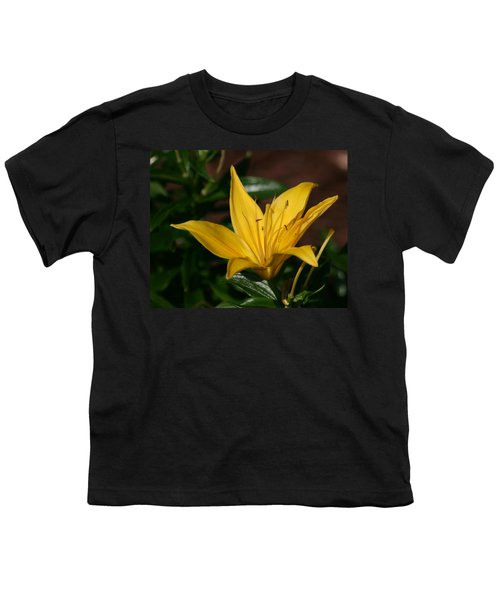 Yellow Lily Youth T-Shirt by Bill Barber