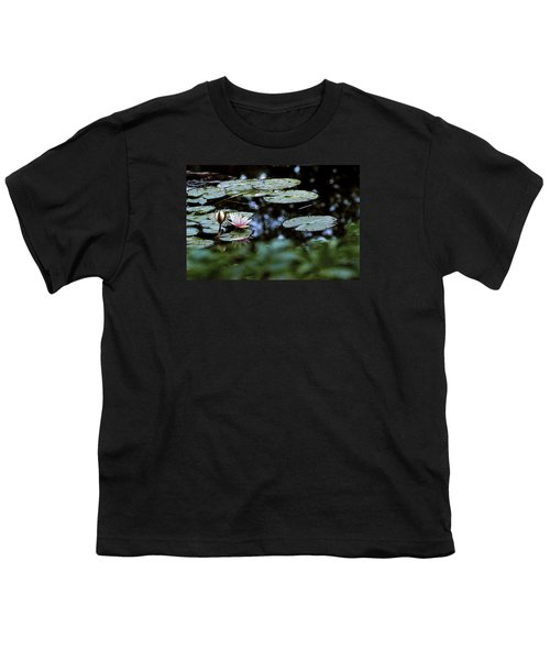 Youth T-Shirt featuring the photograph At Claude Monet's Water Garden 6 by Dubi Roman