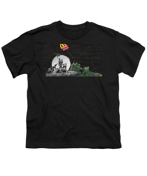 Banksy - The Tribute - New World Order Youth T-Shirt by Serge Averbukh