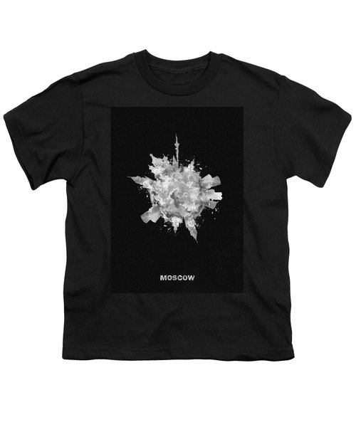 Black Skyround Art Of Moscow, Russia Youth T-Shirt