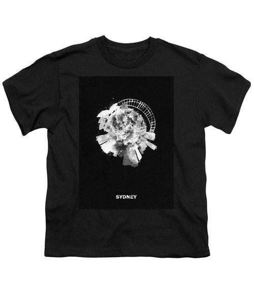 Black Skyround Art Of Sydney, Australia Youth T-Shirt