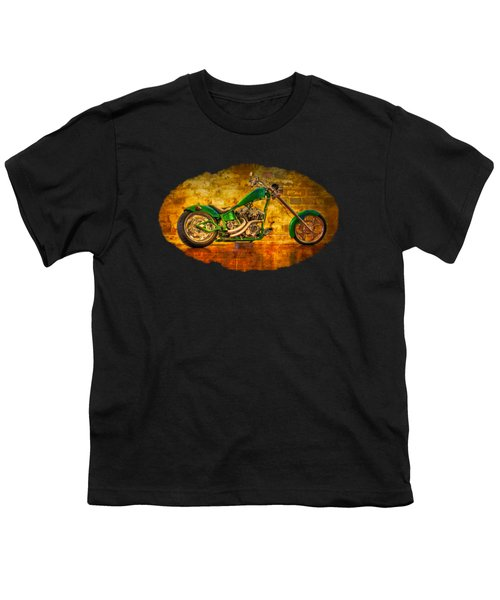 Green Chopper Youth T-Shirt by Debra and Dave Vanderlaan