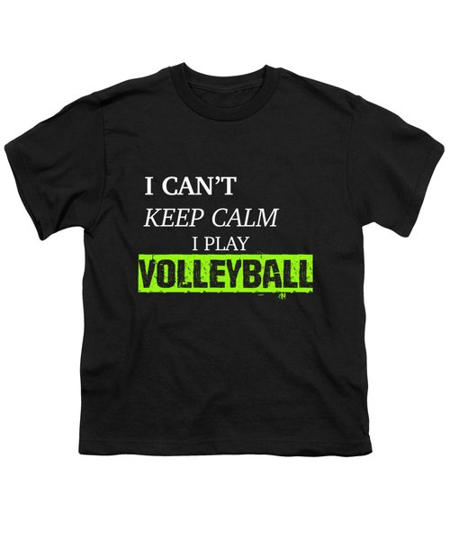 I Play Volleyball Youth T-Shirt by Meli Mel