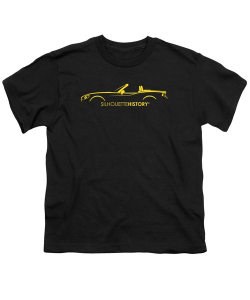 Italian Roadster Silhouettehistory Youth T-Shirt by Gabor Vida