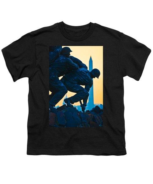 Iwo Jima Memorial At Dusk Youth T-Shirt
