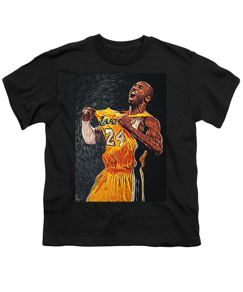 Kobe Bryant Youth T-Shirt by Taylan Apukovska