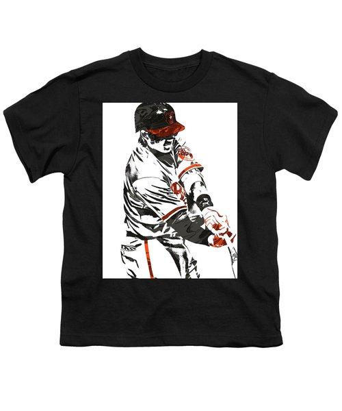 Manny Machado Baltimore Orioles Pixel Art Youth T-Shirt