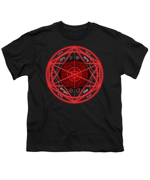 Occult Magick Symbol On Red By Pierre Blanchard Youth T-Shirt