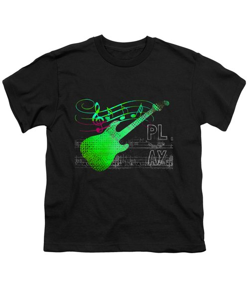 Youth T-Shirt featuring the digital art Play 3 by Guitar Wacky
