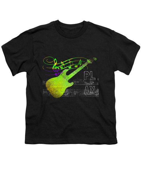 Youth T-Shirt featuring the digital art Play 1 by Guitar Wacky